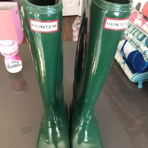Hunter Shoes - Hunter boots tall gloss